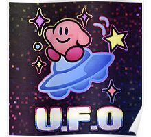 Kirby UFO Poster