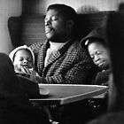 Family on train England 1967 by Duncan Garrett