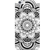MANDALA black iPhone Case/Skin