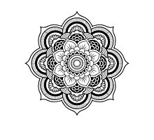 MANDALA black Photographic Print