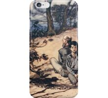 Snowdrop & Other Tales by Jacob Grimm art Arthur Rackham 1920 0161 The Little Black Mannikin Appeared iPhone Case/Skin