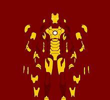 Iron Man Mark 42 Minimalist Art by adesigngeek