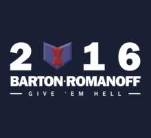 Barton/Romanoff Presidential Running Team by shidesigns