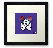 Mouse Nebula Dope Head Framed Print