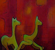 Chasing Llamas by Ingrid Russell