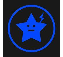 Jet Star Black and Blue Photographic Print