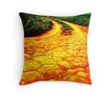 Follow the Yellow Road Throw Pillow