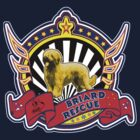 Briard Rescue logo with natural fawn dog by BriardRescue