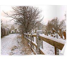 """""""Rural Winter White"""" Poster"""