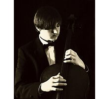 Pizzicato Cellist Photographic Print