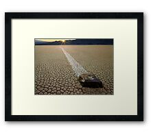 Racing Rock - Death Valley Framed Print
