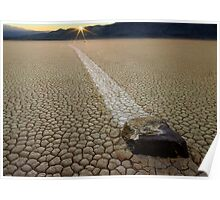 Racing Rock - Death Valley Poster