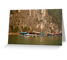 Floating Village Greeting Card