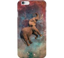 Elephant Floating in Space Low Poly iPhone Case/Skin