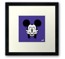 Mouse Head Framed Print