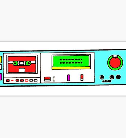 retro tape deck Sticker