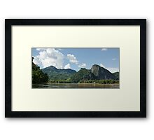 an awe-inspiring Laos landscape Framed Print