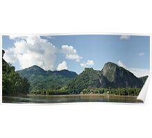 an awe-inspiring Laos landscape Poster