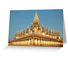 a sprawling Laos landscape Greeting Card