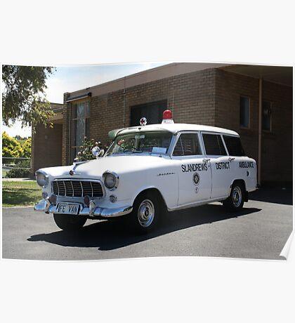 Holden FE Ambulance Poster
