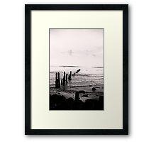 Sea Defence - Sandsend Framed Print