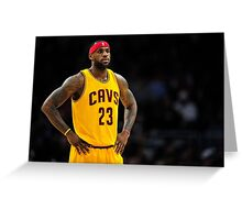 Lebron James - The King Greeting Card