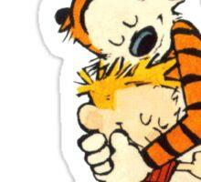 hug calvin and hobbes Sticker