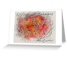 Happy New Year All Bubblers! Greeting Card