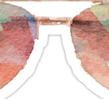 Aviator Sunglasses Watercolor Sticker - Hipster/Trendy Meme Sticker