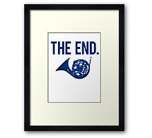 The End. Framed Print