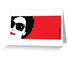 Red anais Greeting Card