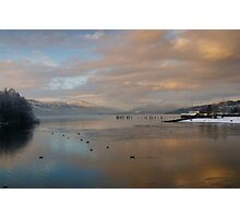 Christmas Eve at Loch Lomond Shores Photographic Print