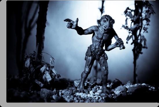 Troll Strolling On Moonlight by Marc Garrido Clotet