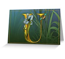 Letter U Greeting Card