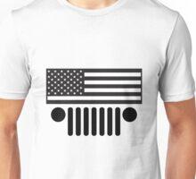 Jeep Wrangler American Flag B&W BIG (shirt size) Unisex T-Shirt