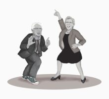 Disco Night with Bernie Sanders and Elizabeth Warren One Piece - Short Sleeve