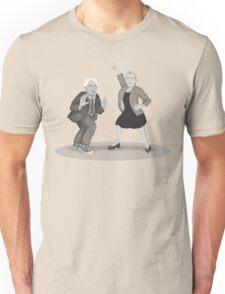 Disco Night with Bernie Sanders and Elizabeth Warren Unisex T-Shirt