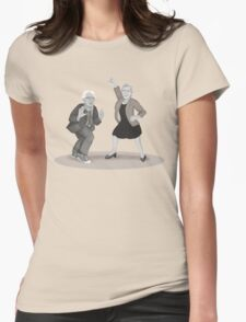 Disco Night with Bernie Sanders and Elizabeth Warren Womens Fitted T-Shirt