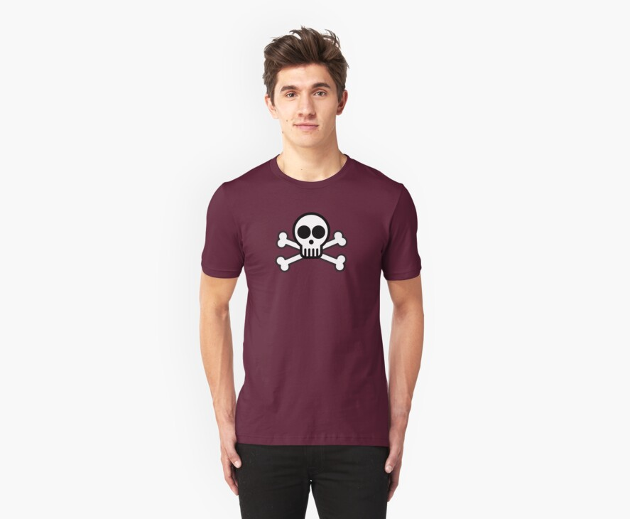 Skull with Crossbones (Black & White) by Bukowsky