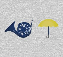 Blue French Horn Vs. Yellow Umbrella Kids Clothes