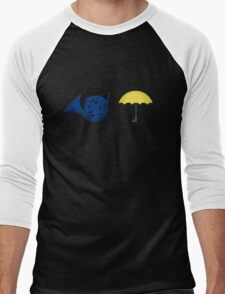 Blue French Horn Vs. Yellow Umbrella T-Shirt
