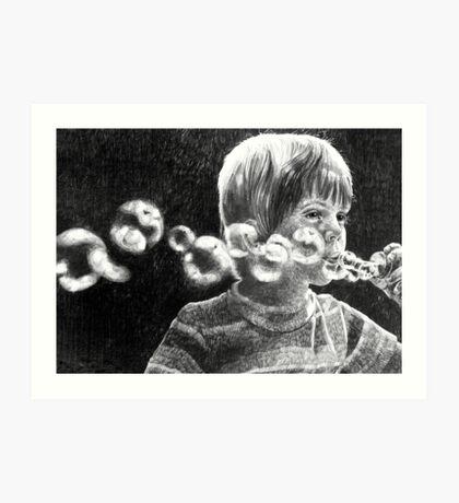 The bubble blower Art Print