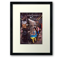 Carpet factory, Killybegs, County Donegal, Ireland circa 1959 Framed Print