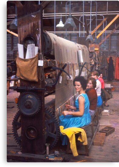 Carpet factory, Killybegs, County Donegal, Ireland circa 1959 by Andrew Jones