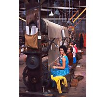 Carpet factory, Killybegs, County Donegal, Ireland circa 1959 Photographic Print