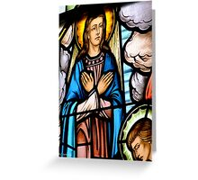 Window Detail, The Assumption Greeting Card