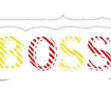 """AVPM """"Boss Zefron Poster"""" Sticker"""