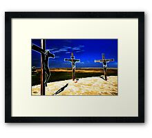 Darkness at the Crucifixion of Jesus Framed Print