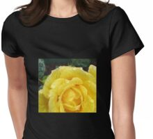 Raindrops on Rose Petals Womens Fitted T-Shirt