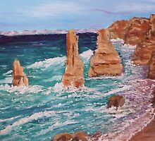 The Apostles Vic Australia by Jill Camilleri